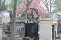 Cementary in Parijs, Frankrijk stock afbeeldingen