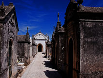 Cementary Portugal. Graves at a old cementary in Portugal Stock Photos