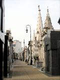 Cementary recoleta. Recoleta cementary side street on a sunny day in Buenos Aires royalty free stock photo