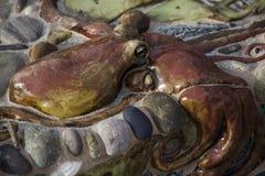 Cementbläckfisk inbäddad i en Planterkant Royaltyfri Foto
