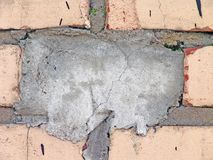 Cemented Brick. In the wall , can be used like an original background for your text stock images