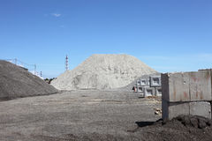 Cementeer fabriek Royalty-vrije Stock Afbeelding