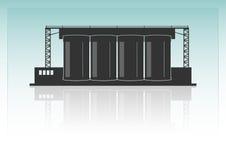 Cementera fabriken Arkivbilder