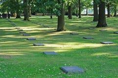 Cementerio alemán, Flandes, dof bajo Imagen de archivo