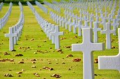 Cementerio americano en Italia imagen de archivo libre de regalías