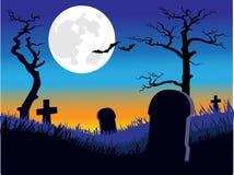 Cementerio azul Fotografía de archivo