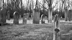 Cementerio blanco y negro Imágenes de archivo libres de regalías