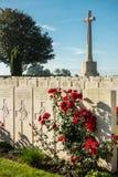 Cementerio británico de la guerra de Mendinghem, primer, probado, Bélgica imagen de archivo libre de regalías