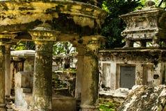Cementerio colonial en Georgetown, Malasia julio de 2015 Fotografía de archivo
