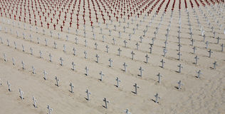 Cementerio conmemorativo en la playa de Santa Monica, California Imágenes de archivo libres de regalías