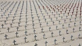 Cementerio conmemorativo en la playa de Santa Monica, California Fotografía de archivo libre de regalías