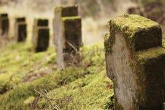 Cementerio cristiano Imagen de archivo libre de regalías