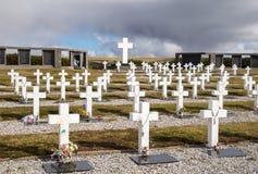 Cementerio de Argentina Darwin, Falkland Islands Imagen de archivo libre de regalías