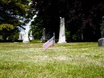 Cementerio de Bosque verde foto de archivo libre de regalías