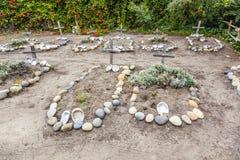 Cementerio de Carmel Mission Fotografía de archivo