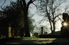 Cementerio de Greyfriars en sol de los inviernos foto de archivo