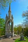 Cementerio de la arboleda del resorte Fotos de archivo libres de regalías