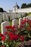 Cementerio de la choza de Tyne en Ypres imágenes de archivo libres de regalías