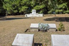 Cementerio de la colina verde en Canakkale, Turquía fotografía de archivo libre de regalías