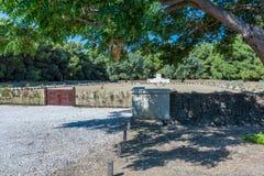Cementerio de la colina verde en Canakkale, Turquía imagen de archivo