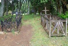Cementerio de la familia en el museo alemán en Frutillar, Chile fotos de archivo libres de regalías