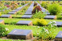 Cementerio de la guerra de Kanchanaburi (Don Rak) Imagenes de archivo