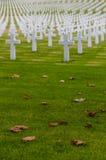 Cementerio de la Guerra Mundial del americano Segundo Foto de archivo libre de regalías