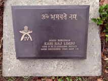 Cementerio de la guerra mundial, Kohima, Nagaland imagenes de archivo