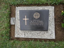 Cementerio de la guerra mundial, Kohima, Nagaland fotografía de archivo libre de regalías