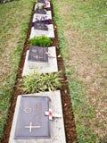 Cementerio de la guerra mundial, Kohima, Nagaland, la India de nordeste foto de archivo libre de regalías