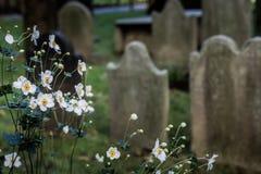 Cementerio de la iglesia de la trinidad en Wall Street y Broadway, Manhattan, Foto de archivo
