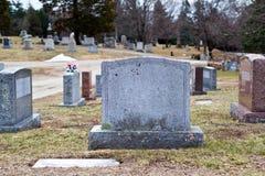 Cementerio de la pequeña ciudad Fotos de archivo