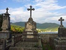 Cementerio de la playa Foto de archivo libre de regalías