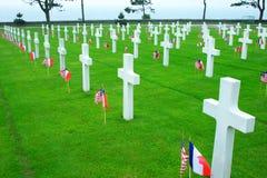 Cementerio de la playa de Omaha Foto de archivo