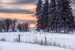 Cementerio de la puesta del sol Imagen de archivo libre de regalías