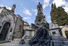 Cementerio de la Recoleta公墓在布宜诺斯艾利斯,阿根廷 图库摄影
