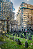 Cementerio de la tierra de entierro de la capilla del ` s del rey - Boston, Massachusetts, los E.E.U.U. fotos de archivo libres de regalías