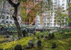 Cementerio de la tierra de entierro del granero - Boston, Massachusetts, USAy - Boston, Massachusetts, los E.E.U.U. imagen de archivo