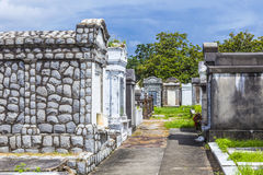 Cementerio de Lafayette en New Orleans con las piedras graves históricas foto de archivo