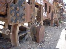 Cementerio de los trenes в uyuni Стоковые Фото