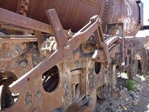 Cementerio de los trenes in uyuni Stock Photography