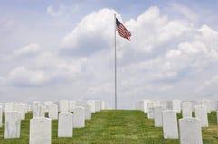 Cementerio de los veteranos de guerra Foto de archivo libre de regalías