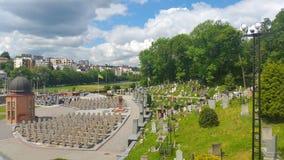 Cementerio de Lychakivske el lugar del entierro de los centenares cosacos Fotos de archivo