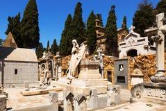 Cementerio de Montjuic Foto de archivo libre de regalías
