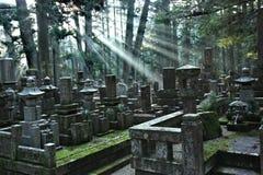Cementerio de Okunoin en el montaje Koya foto de archivo