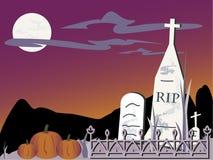 Cementerio de Víspera de Todos los Santos stock de ilustración