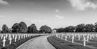 Cementerio del americano de la Segunda Guerra Mundial Fotografía de archivo libre de regalías