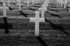 Cementerio del americano de la Segunda Guerra Mundial Imagen de archivo
