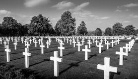 Cementerio del americano de la Segunda Guerra Mundial Fotos de archivo libres de regalías