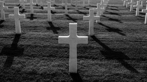 Cementerio del americano de la Segunda Guerra Mundial Fotografía de archivo